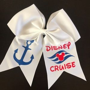 "Other - 6"" GIRLS CUSTOM DISNEY CRUISE HAIRBOW NWT MICKEY"
